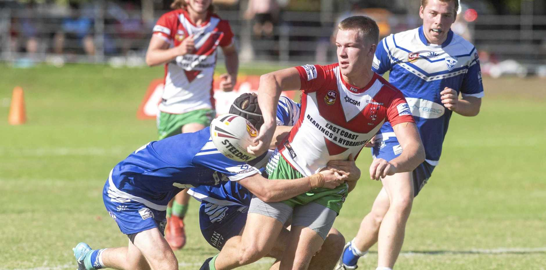 SOLID FIRST TEST: South Grafton Rebels Mike Rigg impressed coach Craig Yougjohns in his maiden start with the first grade side against the Orara Valley Axemen at McKittrick Park on Sunday.