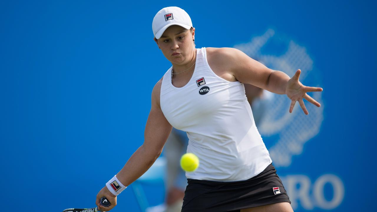 Barty in action during the Nottingham tournament. Picture: Jon Buckle/Getty Images