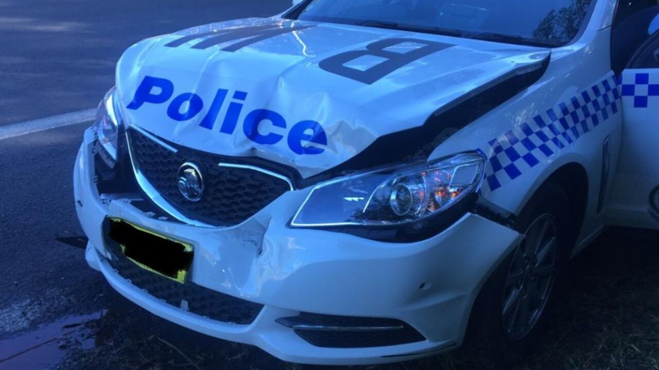 A man will face court today after a police vehicle was allegedly rammed during multiple pursuits on the Central Coast yesterday, as police continue to search for a third person.