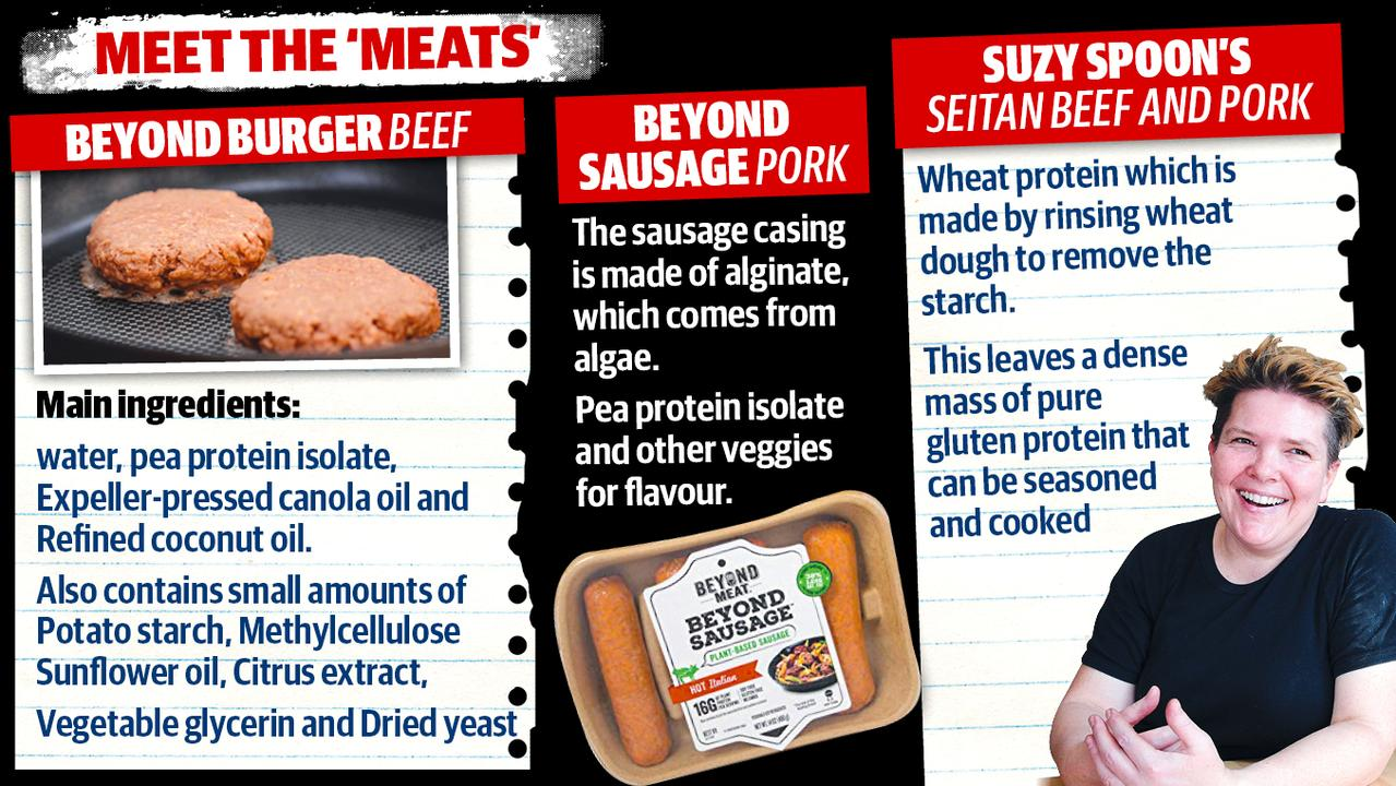 "What is in some of the ""fake meat"" products."