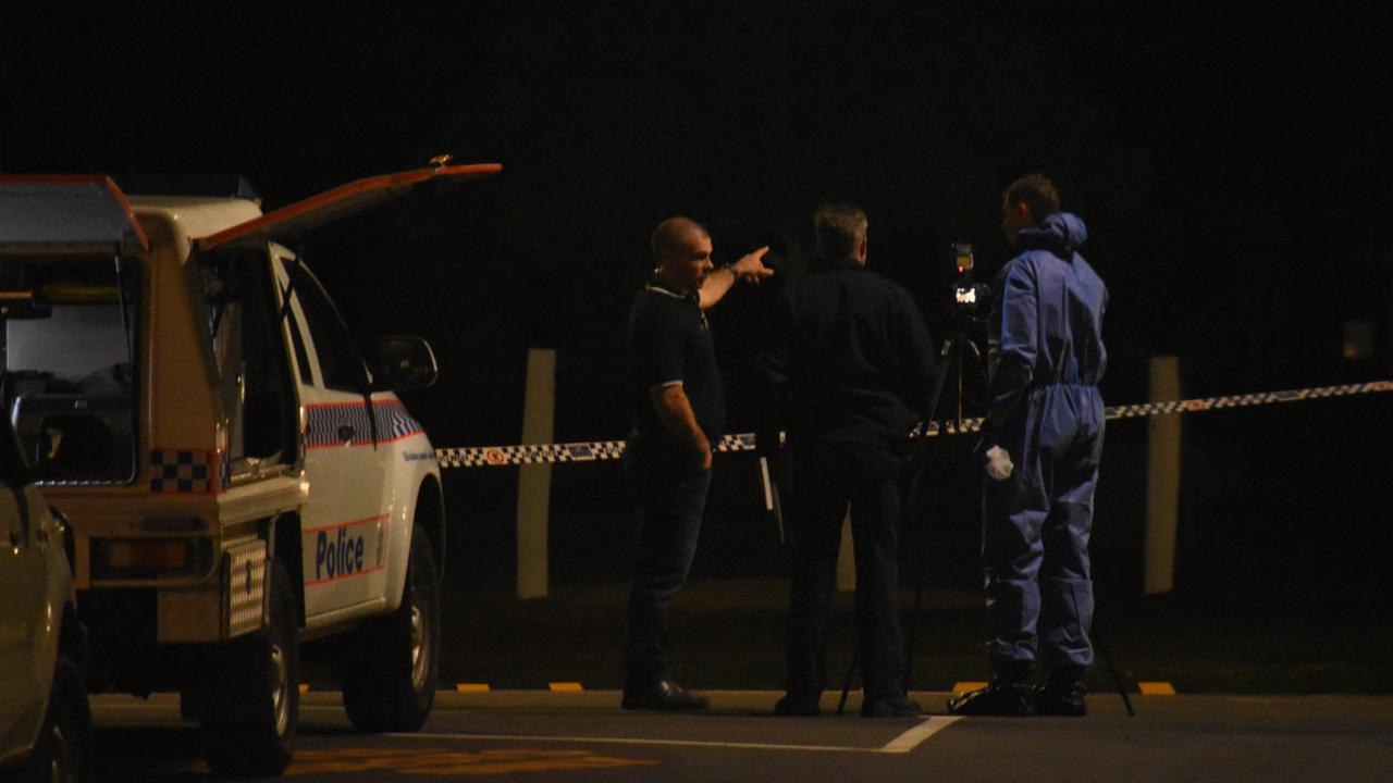 Police and paramedics on scene at an incident at Porters Plainland Hotel, July 1.