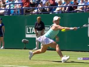 Ash Barty Wimbledon on Kayo