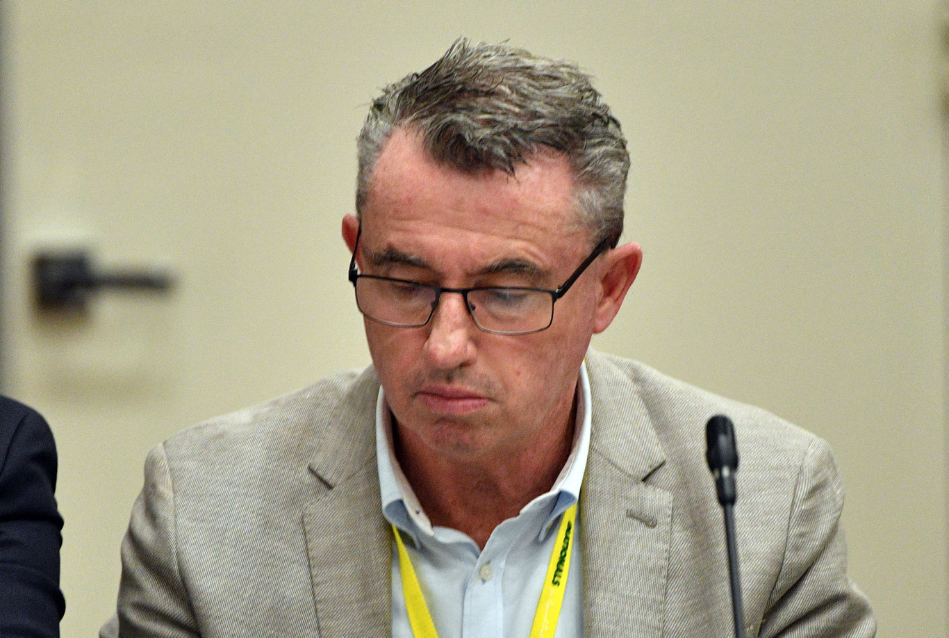 Nationals Member for Page Kevin Hogan at the Nationals Federal Council at the Canberra Hyatt Hotel in Canberra, Saturday, August 18, 2018. (AAP Image/Mick Tsikas) NO ARCHIVING