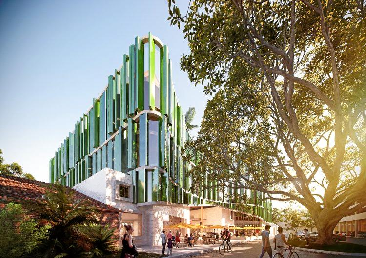 Coffs Harbour City Council's design for the $76.5 million Civic and Cultural Centre. The design as seen from Riding Lane.