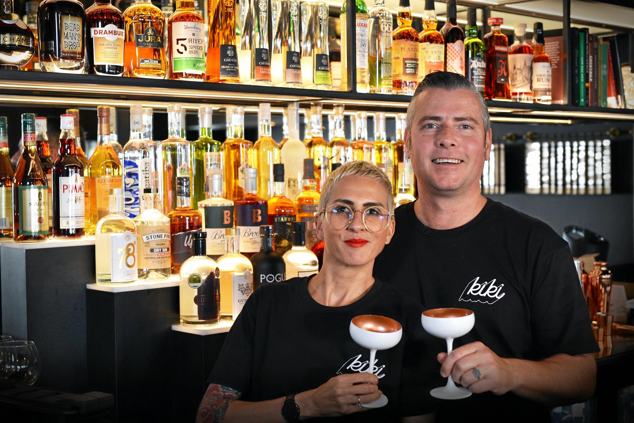 Aaron and Kym-Sarah Ruttan of Kiki Bar in Maroochydore.