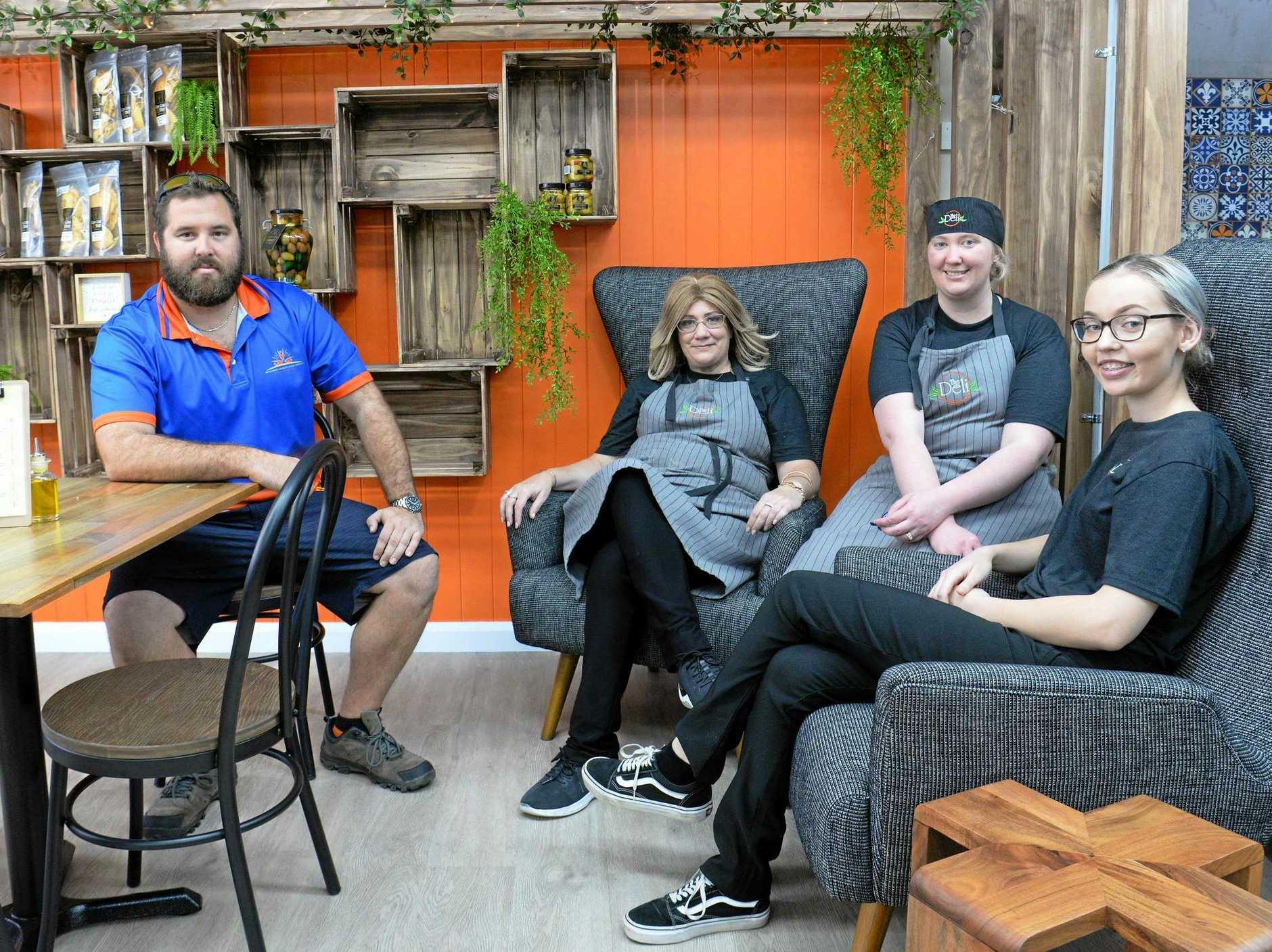 THE DELI: Ashton Matthews, Michelle McPhee, Kahli Olesen and Casey Christensen.