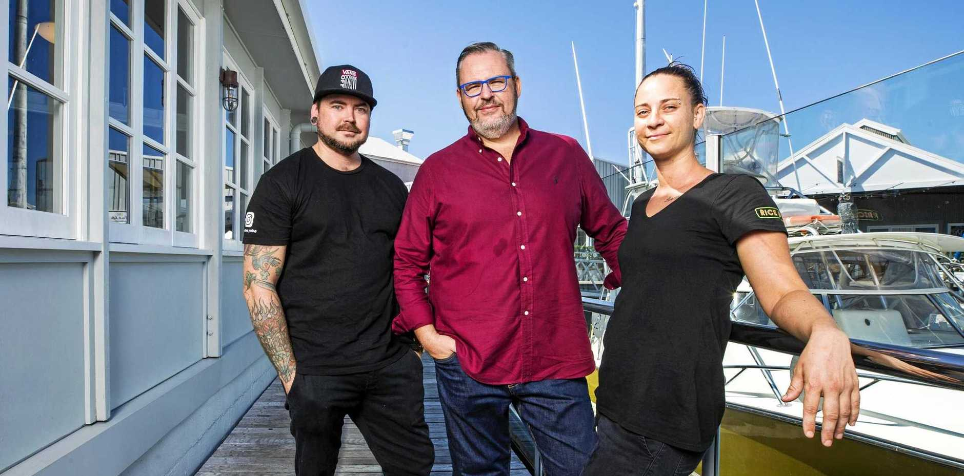 DYNAMIC INDUSTRY: Spero owner Tony Kelly, centre, with head chefs Mitch Smith and Jenny Cann.