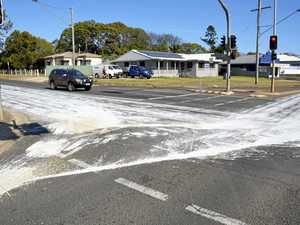 'Hell of a mess': Why Toowoomba streets are painted white