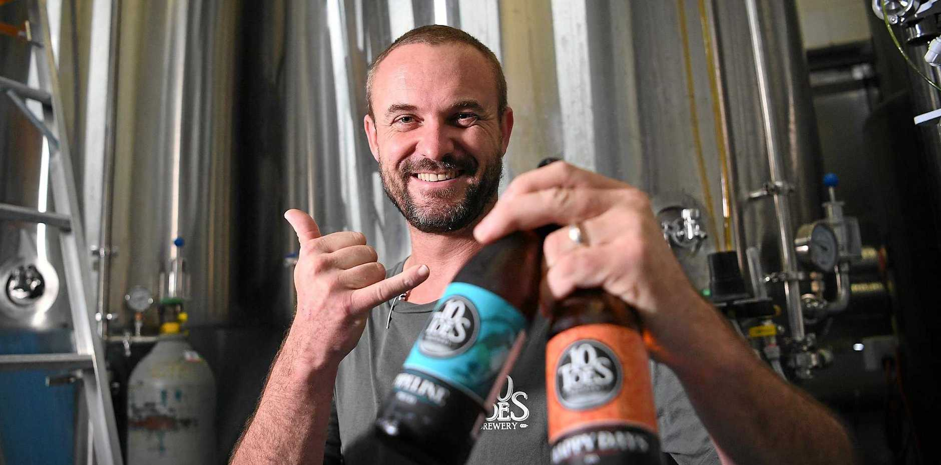 10 Toes Brewery owner Rupert Hall has big plans for the business.