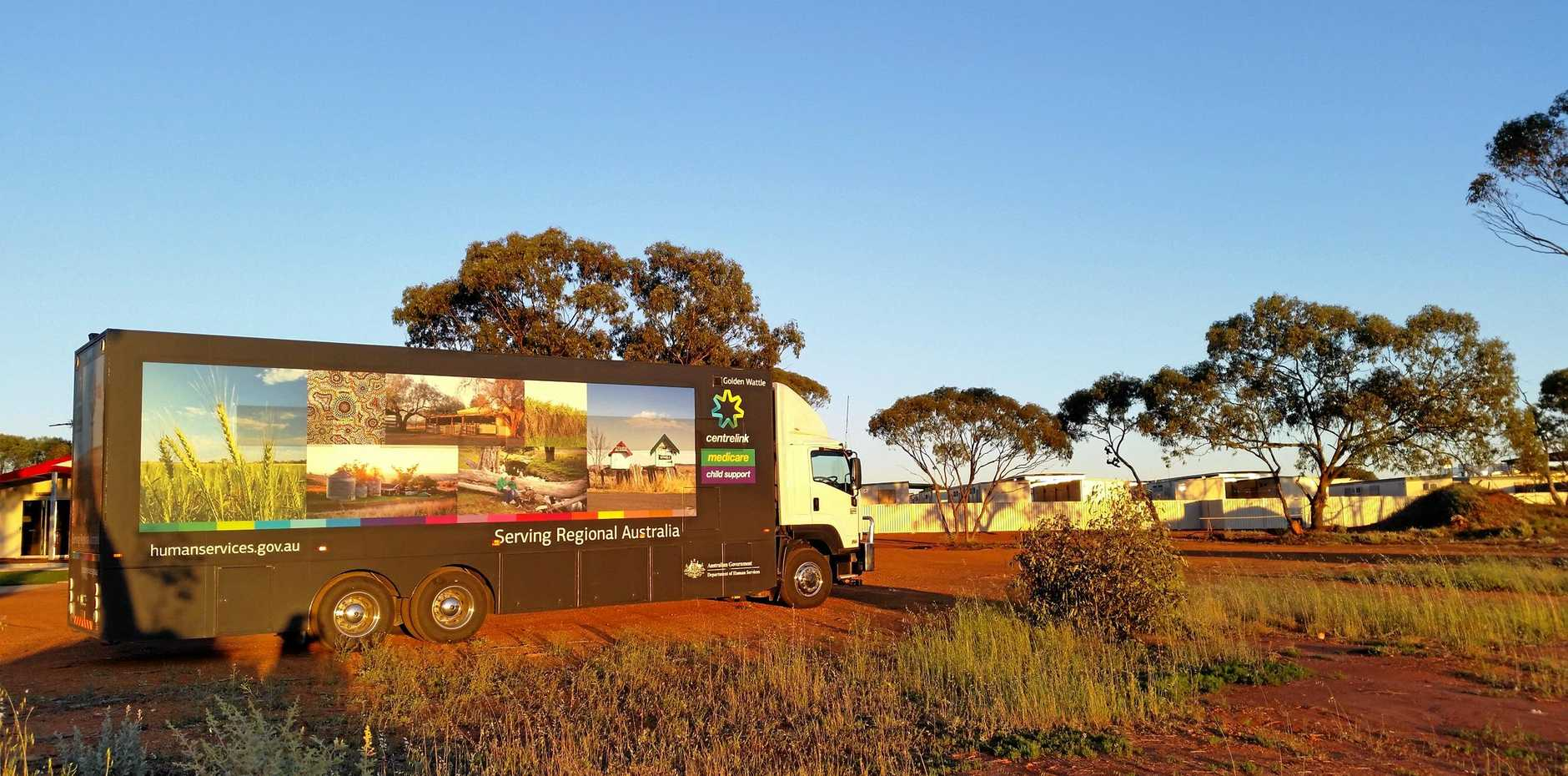 ROLLING THROUGH: The Golden Wattle mobile service centre will bring Centrelink services to the region.