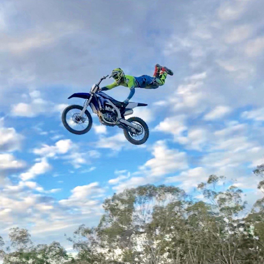 FLYING HIGH: Gladstone motocross rider Reece Smith