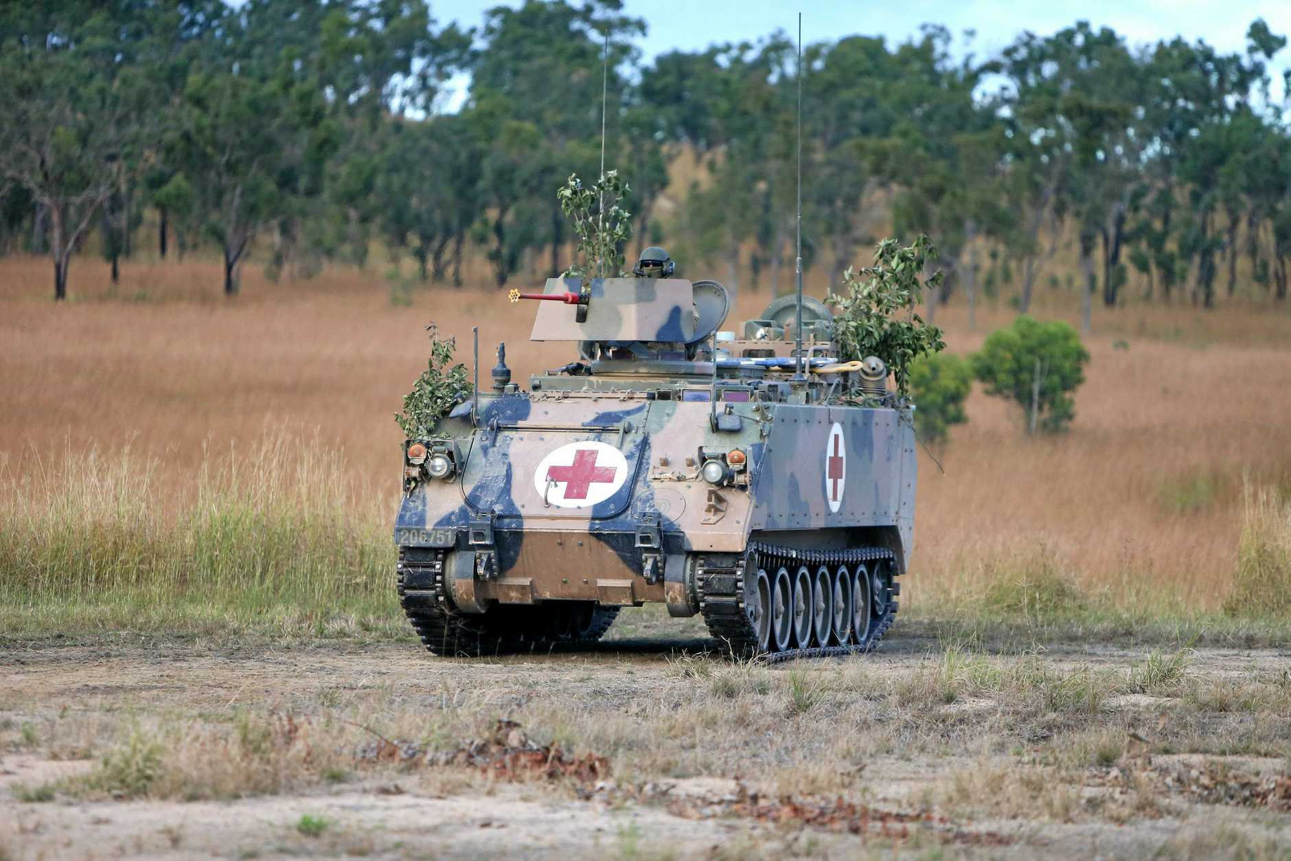 an armoured vehicle at Shoalwater Bay.