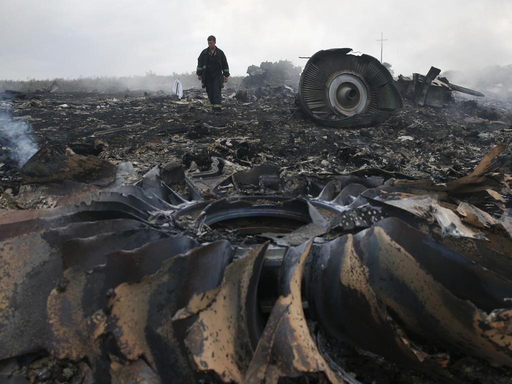 The smoking wreckage of the plane made it clear that no one could have survived. Picture: Reuters/Maxim Zmeyev