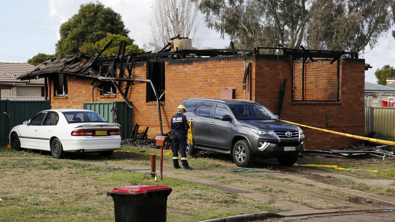 The home was gutted by fire. Investigators are looking into a faulty fireplace. Picture: AAP Image/Darren Pateman