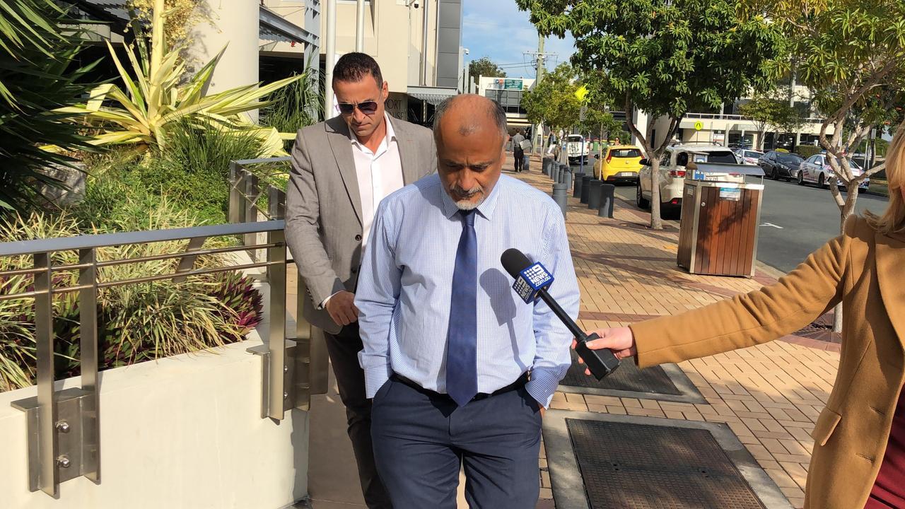 Ashkan Mohamed Hanafy leaves Southport Magistrates Court this morning.