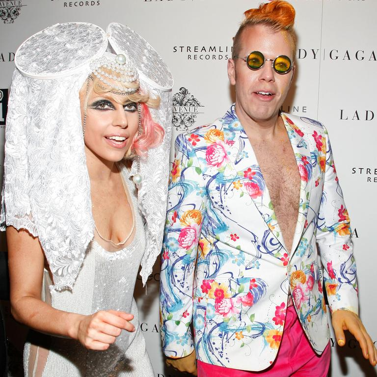 Lady Gaga and celebrity gossip blogger Perez Hilton in 2009. Picture: Amy Sussman/Getty Images