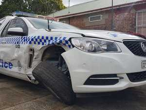 WANTED: Man rammed police vehicle in stolen car