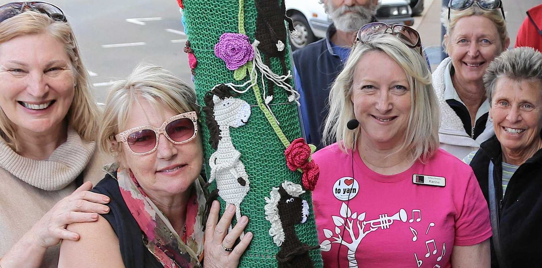 WINTER IS HERE: A yarn blast from the past as Warwick prepares for its annual Jumpers and Jazz Festival from July 18-28, with its accompanying yarnbombing, this year themed Connect.