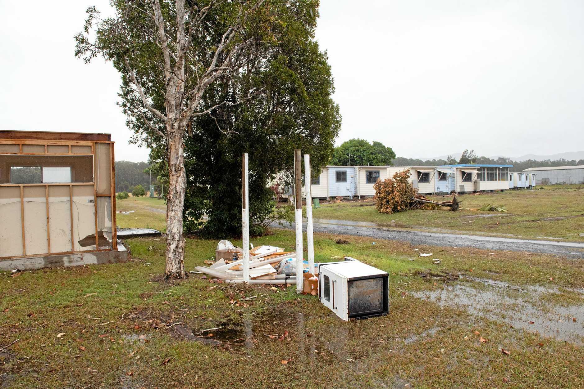 Airport buildings Along avation Drive demolished.. 24 JUNE 2019