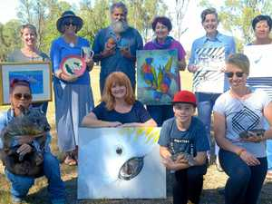 Wiggles the wombat and wallabies get help from CQ artists
