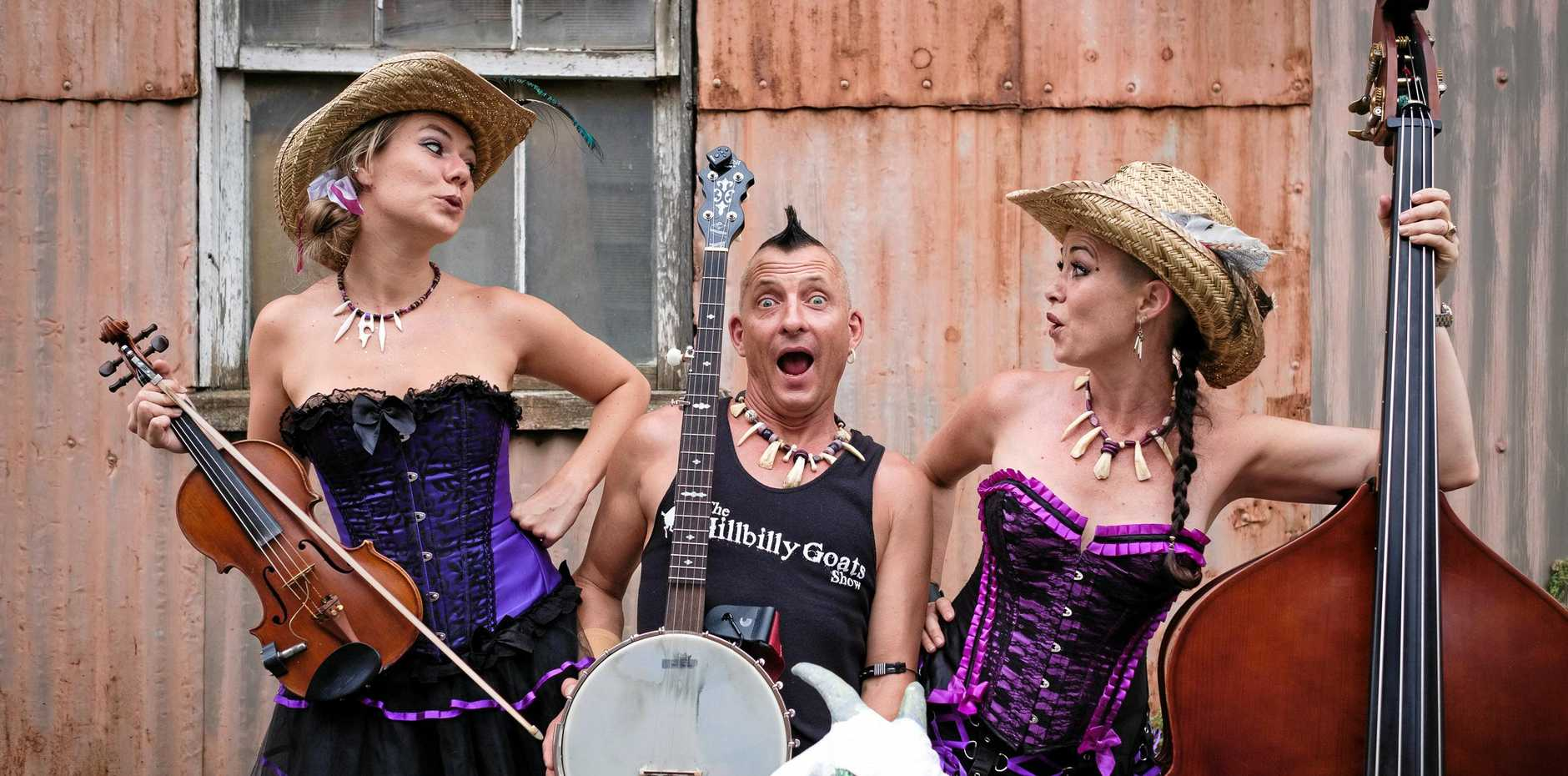 The Hillbilly Goats play at the Seabreeze Hotel this weekend.