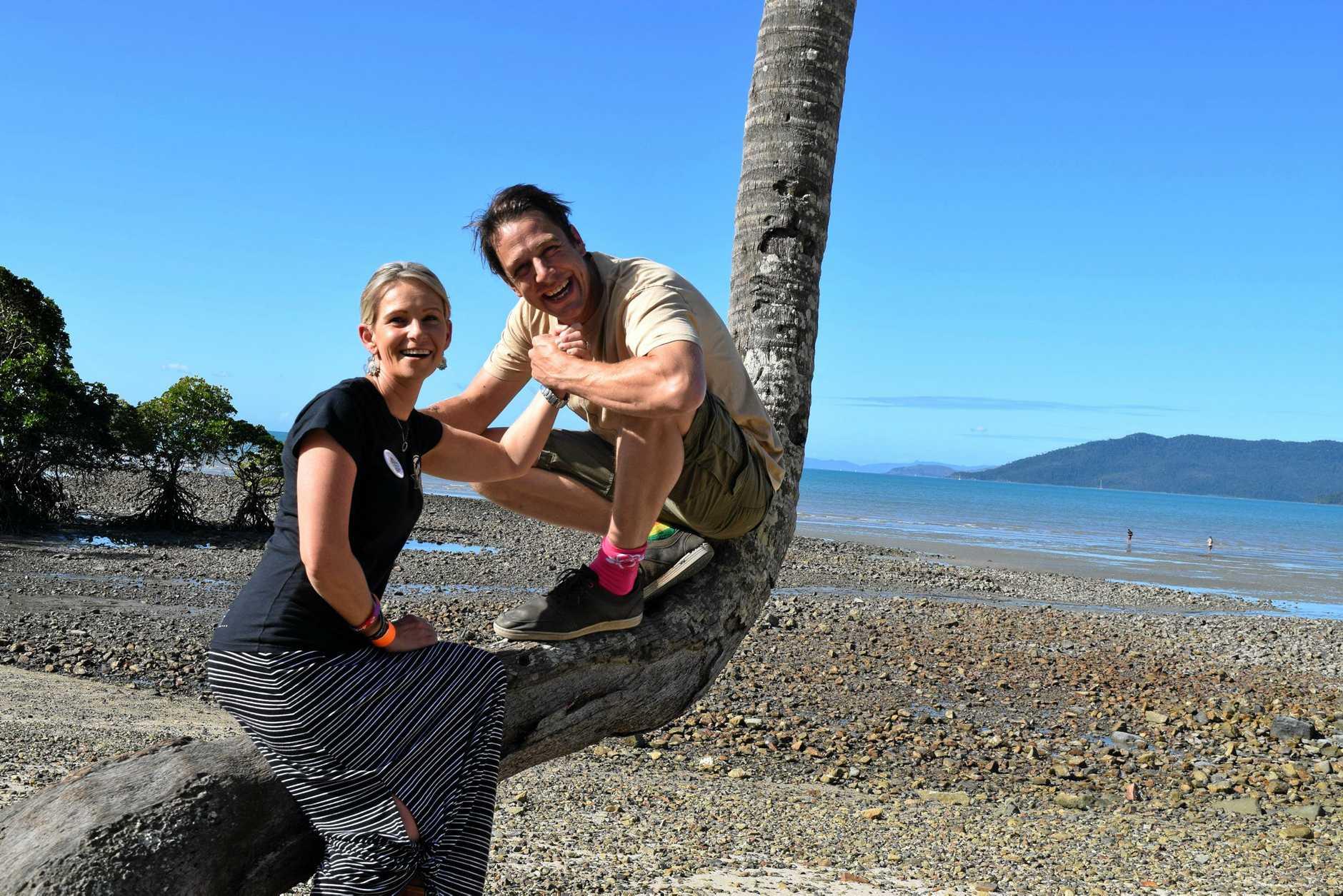 FUNDRAISER: Beachside dance party organiser   Nicole Kawalko-North and Samuel Johnson.