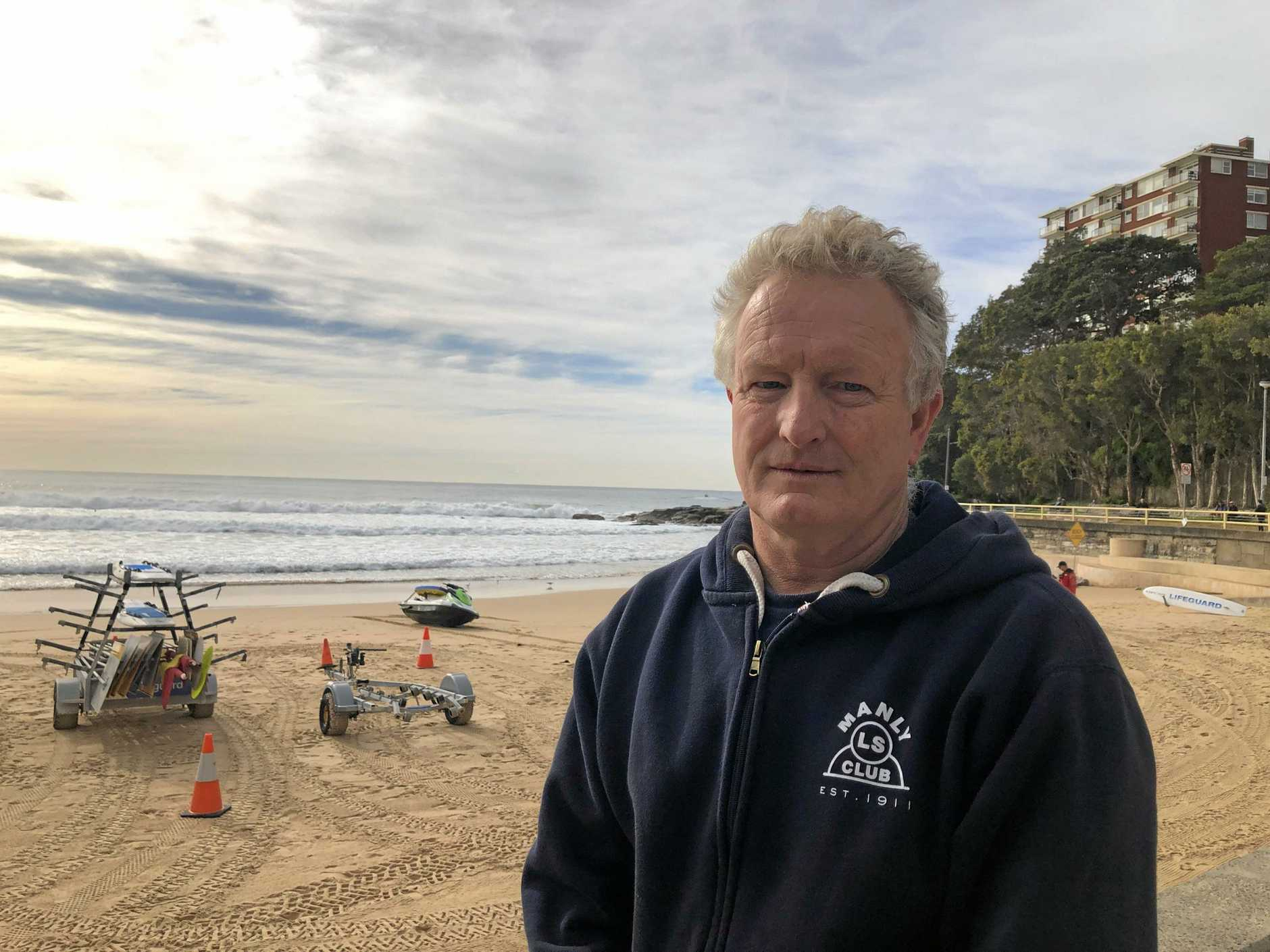 Fire and Rescue Chief Supt Ken Murphy at Manly Beach. Picture: Julie Cross