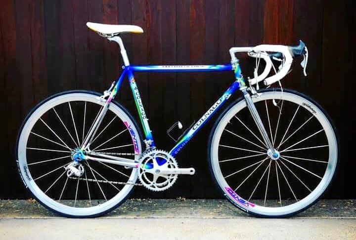 FIRST CLASS: This 1992 Master Olympic Barcelona Colnago will be on display at the Rainbow Café on Saturday.