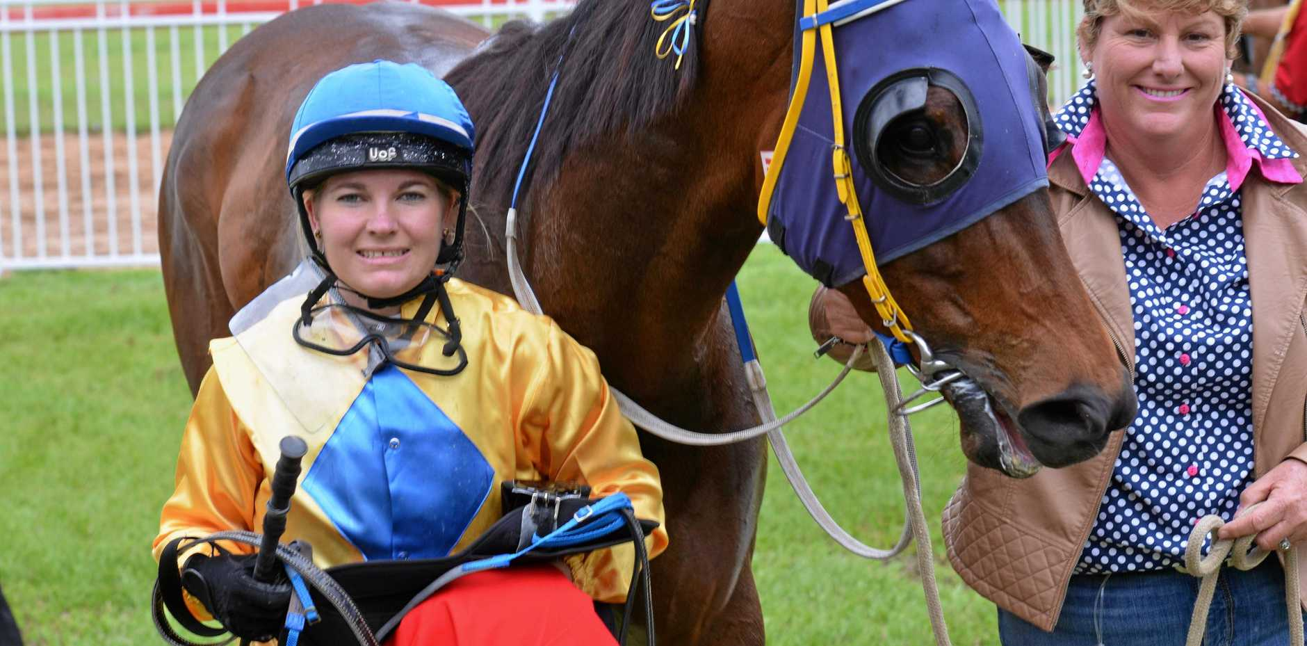 RULED OUT: Jockey Gemma Steele will not be riding at the Rockhampton Newmarket meeting tomorrow due to injury.