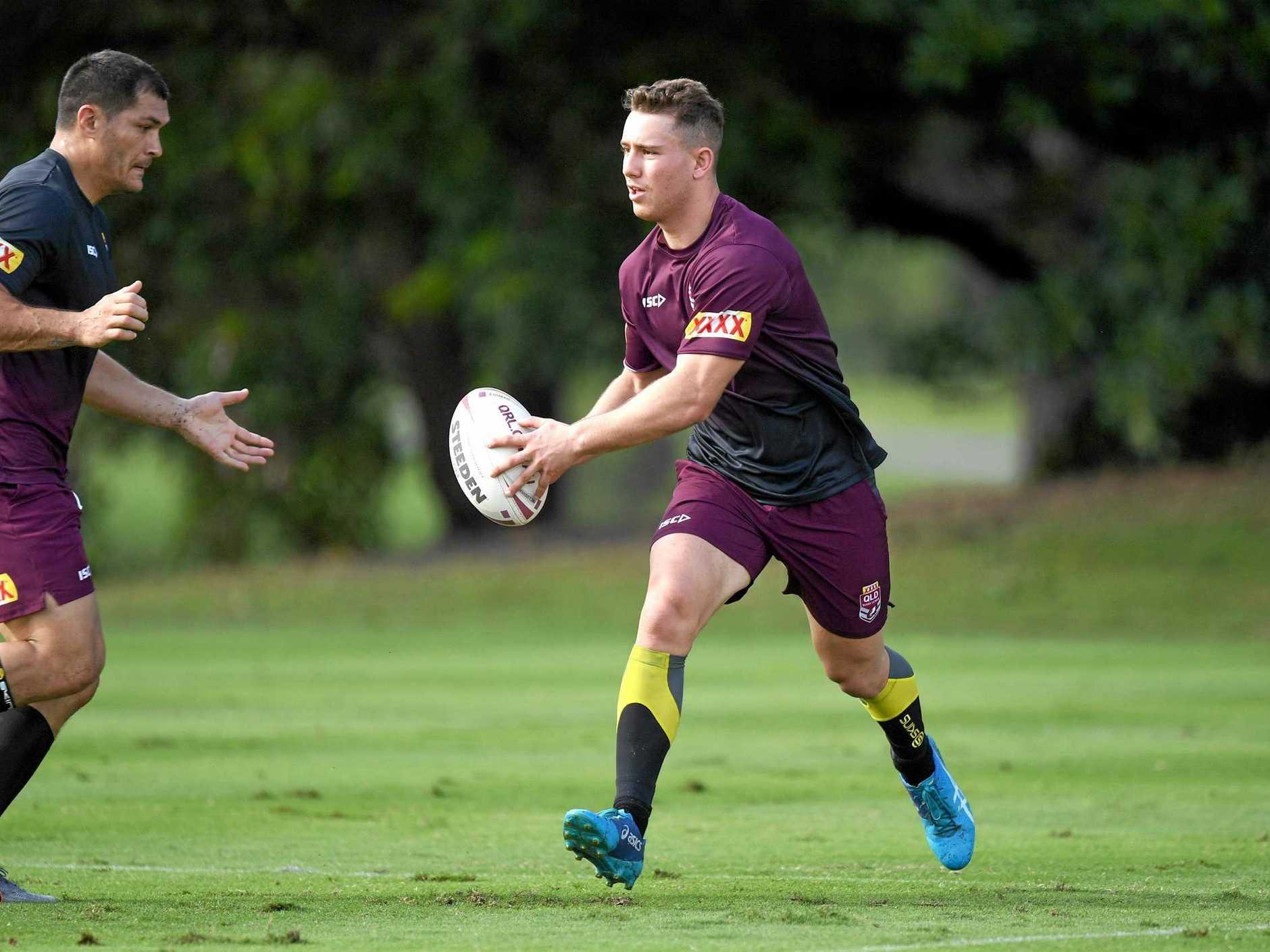 2019 RAN - 2019 XXXX QLD Rangers Captains Run - Caleb Daunt, 2019-06-29. Digital image by Scott Davis  NRL Photos