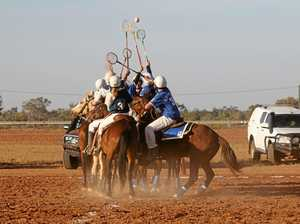 Nine teams galloped into the Quilpie Polocrosse carnival