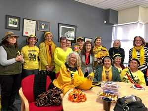 Knitting Nannas 'come in from the cold' after seven years