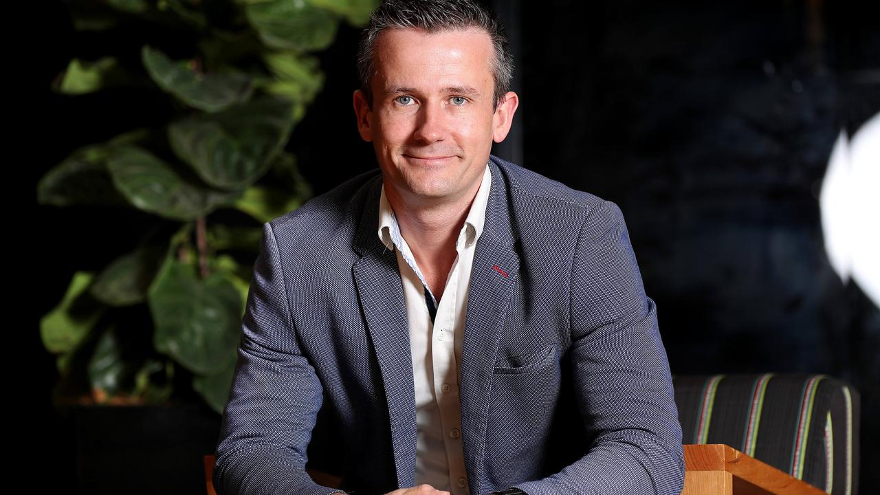 Father-of-two and entrepreneur Aaron Birkby at River City Labs. Picture: Tara Croser
