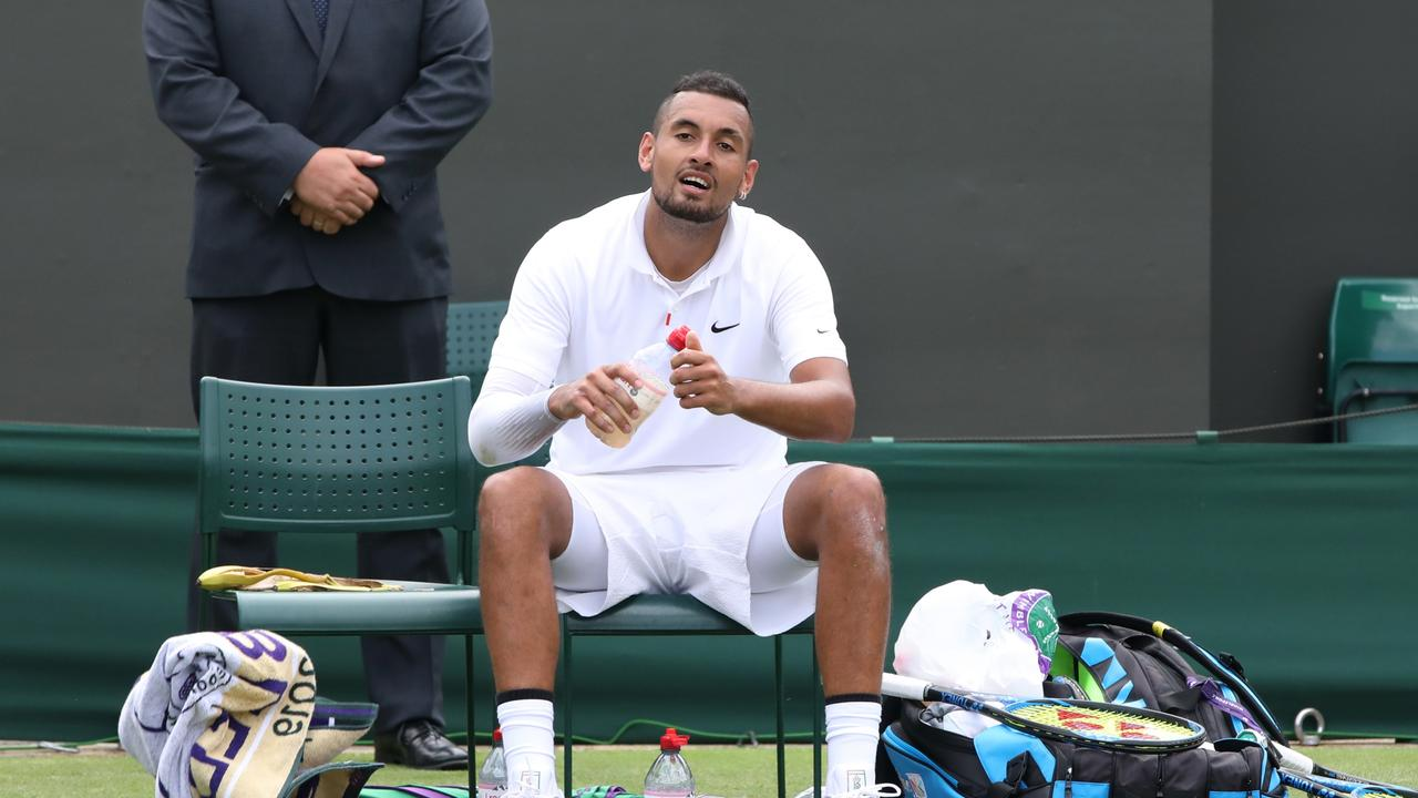 Kyrgios upstaged Nadal at Wimbledon as a teenager. Picture: Ella Pellegrini