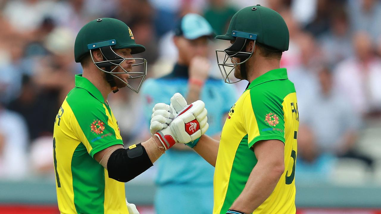 Warner (L) and Aaron Finch have been the tournament's most productive opening pairing. Picture: Getty