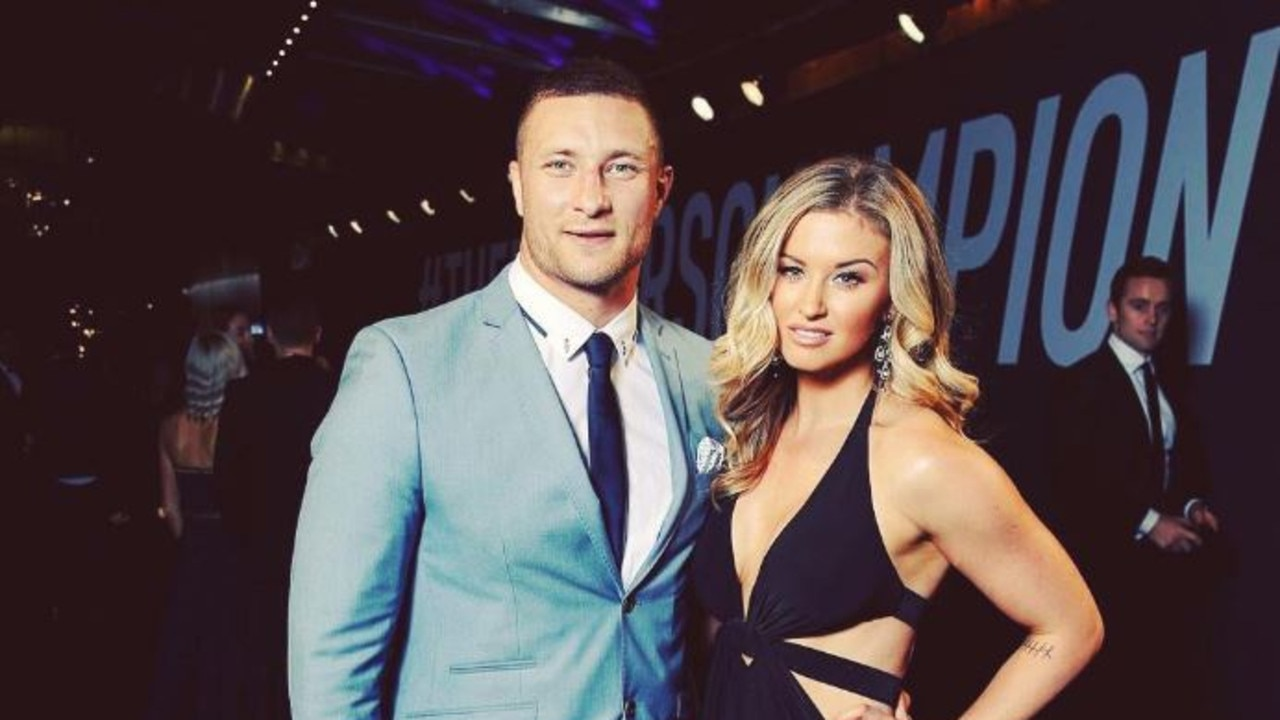 Tariq Sims' wife has lept to his defence following his suspension by the NRL judiciary.