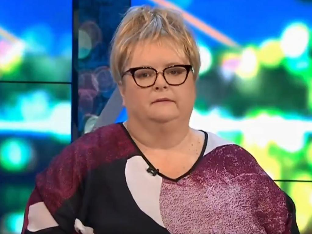 Magda Szubanski on The Project. Picture: Network 10