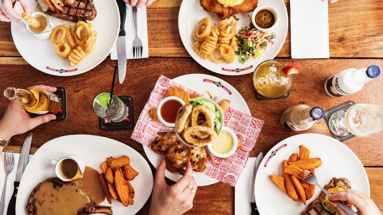 Hog's Breath is famous for steak and curly fries. Picture: Supplied