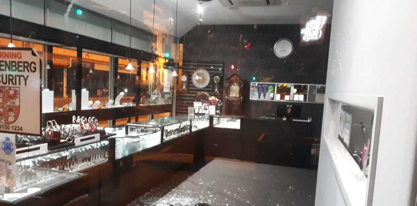 Maryborough's Myatt Jewellers was broken into on Wednesday night and a small quantity of jewellery was stolen.