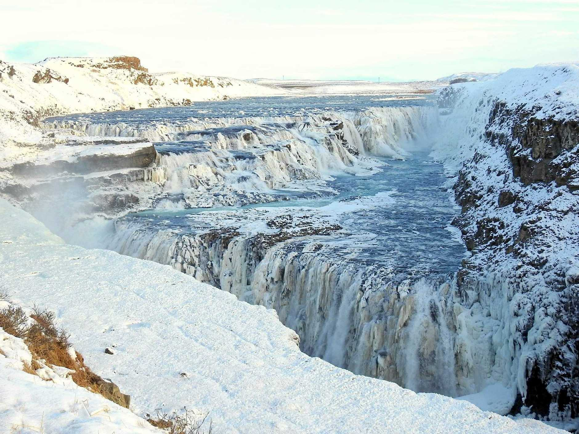 THE MIGHT OF NATURE: Gullfoss, a waterfall in the canyon of the Hvítá river in southwest Iceland.