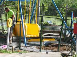 New parks works to include swing for those in a wheelchair