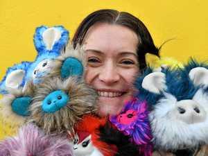Mum takes handmade toys to masses