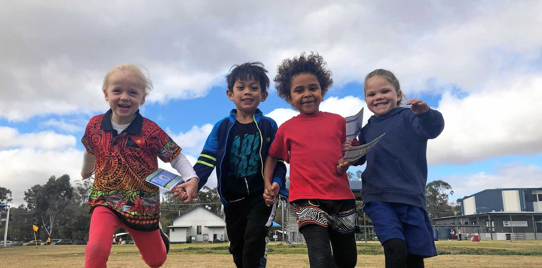 CELEBRATE AND ACKNOWLEDGE: Matilda Jones, Xian Samaniego, Phyllis Brown and Lilly-May Woodbridge helped celebrate NAIDOC Week.