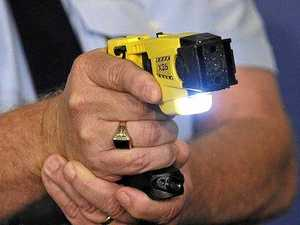 Knife-wielding drug abuser tasered while fleeing police