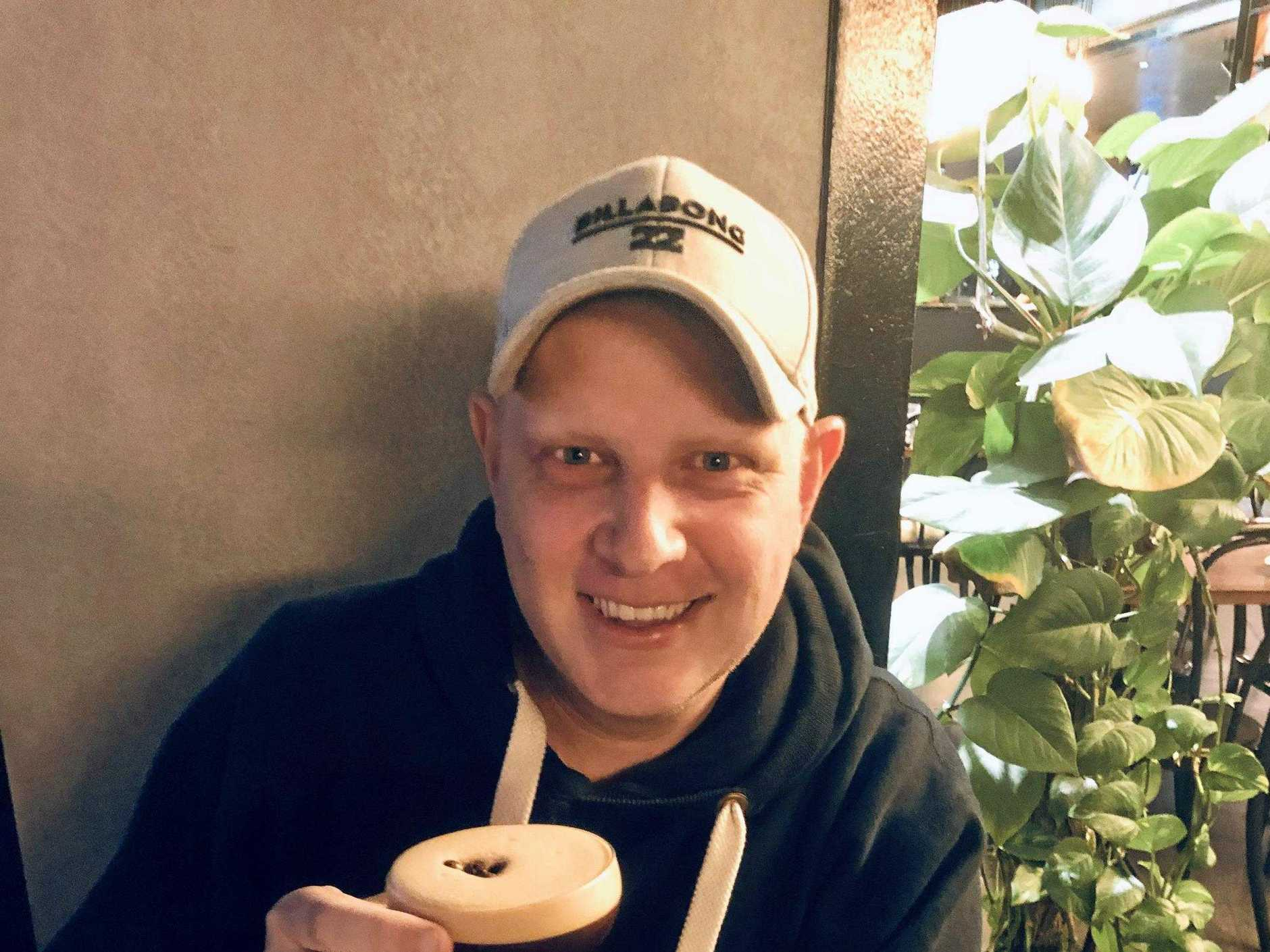 Taken in May this year, Nate celebrates the end of a brutal 10 months of chemotherapy in true style - with an espresso martini.