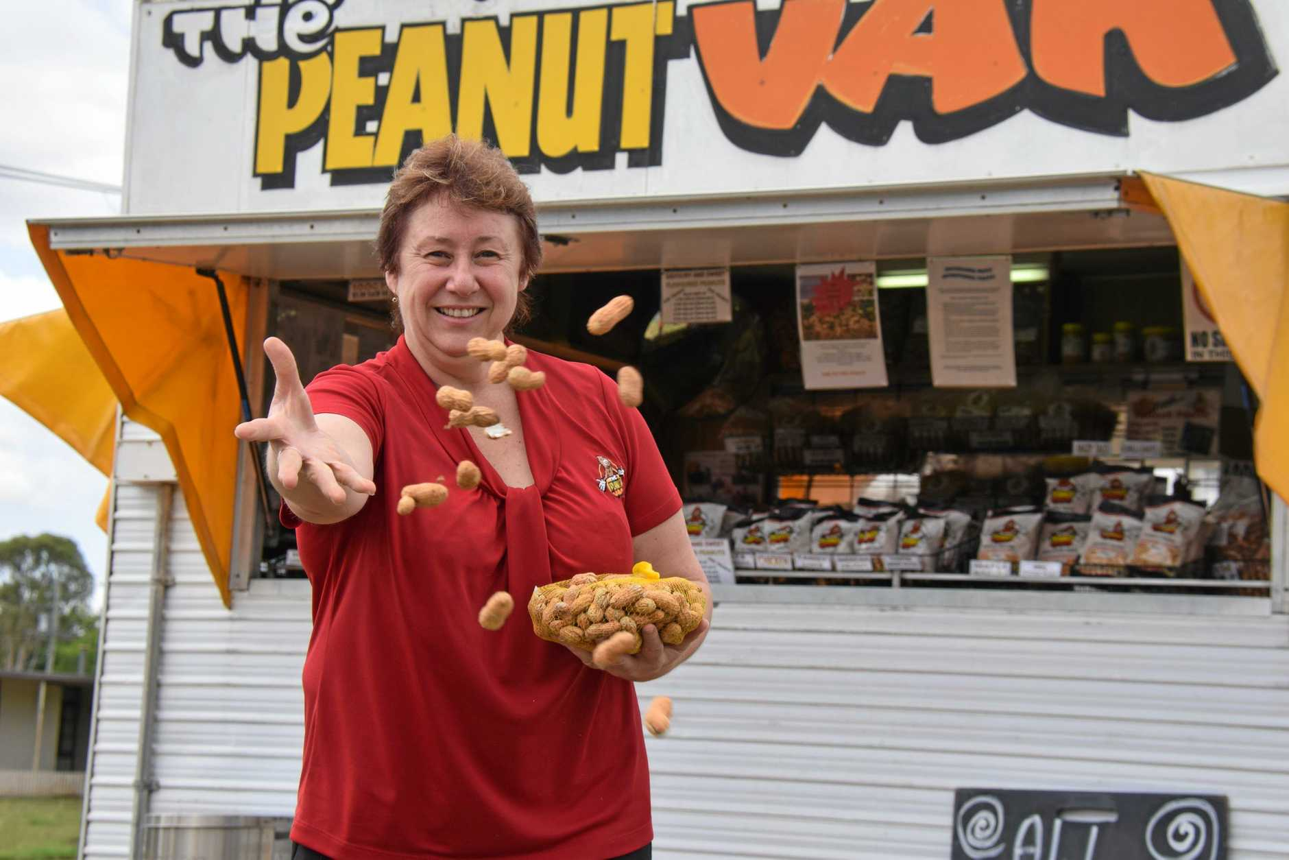 GONE NUTTY: Peanut Van's general manager, Rowena Dionysius is celebrating the popular Peanut Van's 50th birthday all year long.