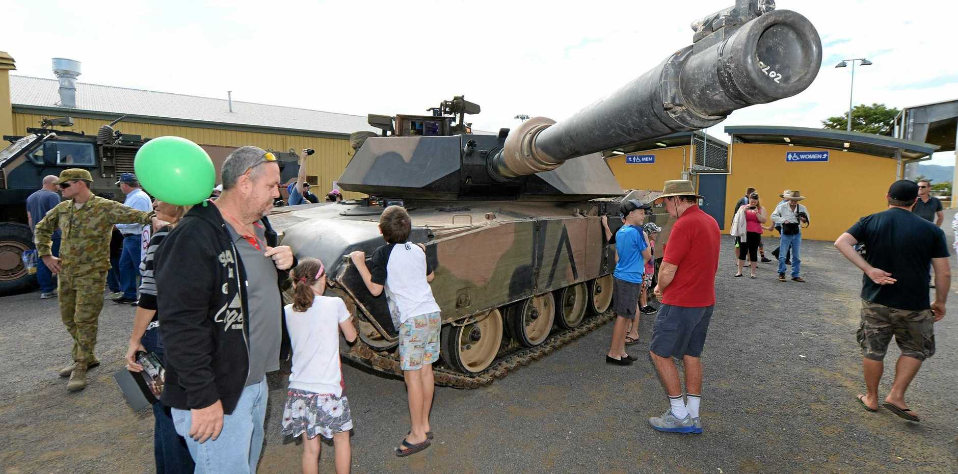 An Australian Army Abrams Tank on display at a previous Talisman Sabre Open Day.