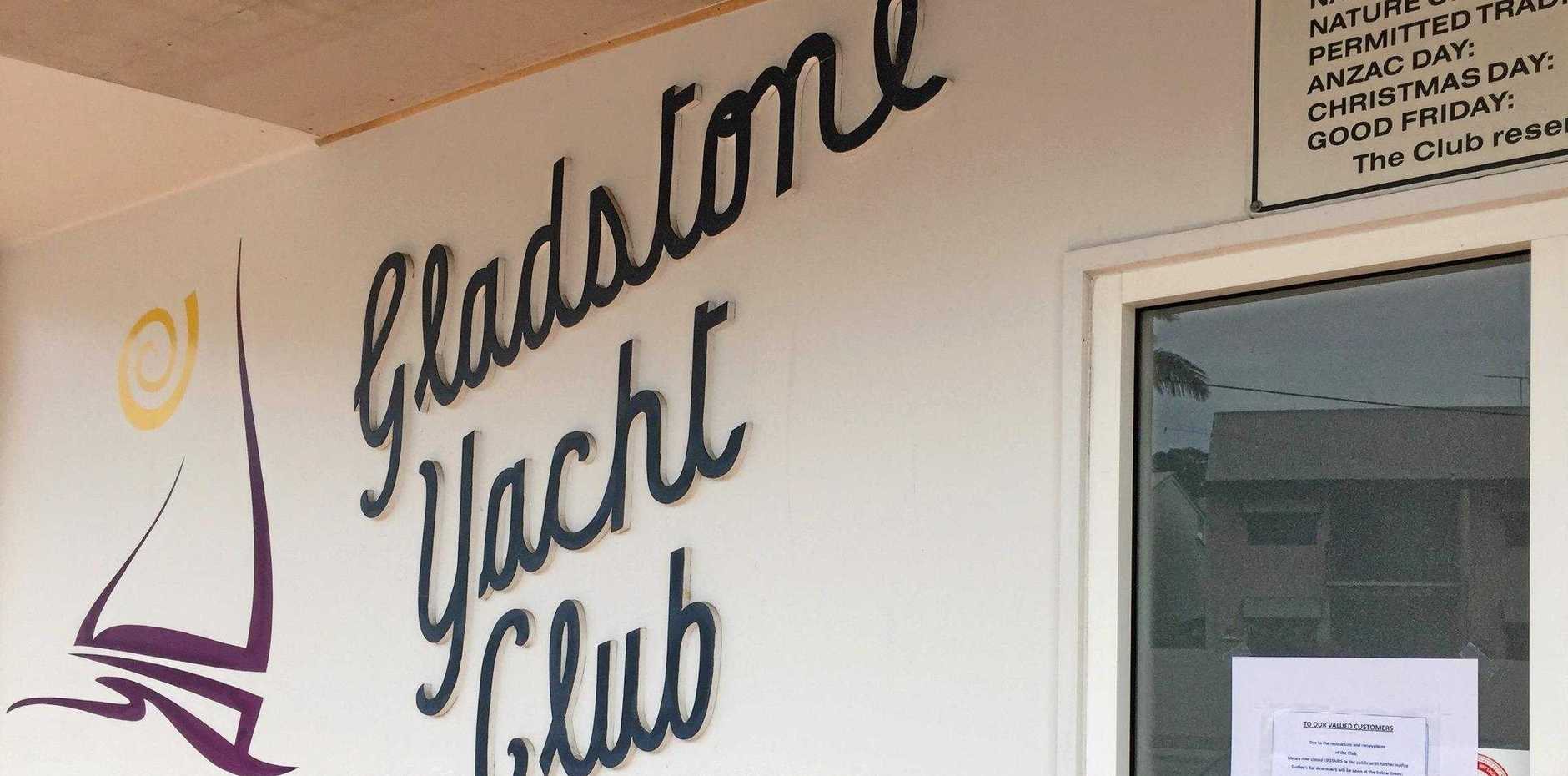 The Gladstone Yacht Club is operating under restricted hours while it undergoes renovations and financial restructuring.