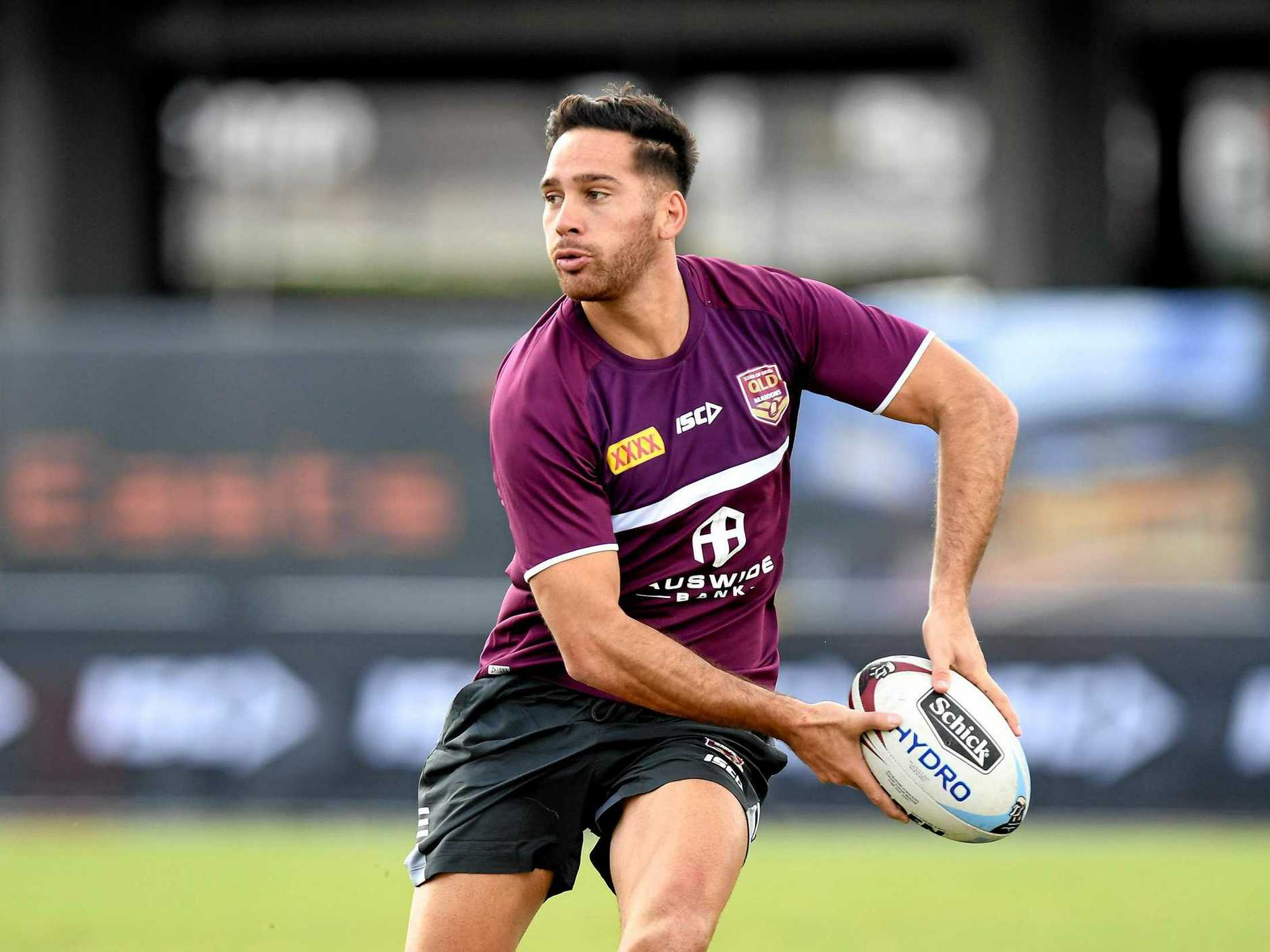Corey Norman will be key for the Maroons in attack. Photo: Bradley Kanaris/Getty Images