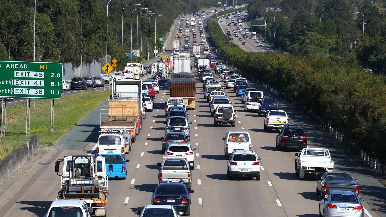 The road is understood to be congested from Helensvale to Pimpama. Photo: David Clark